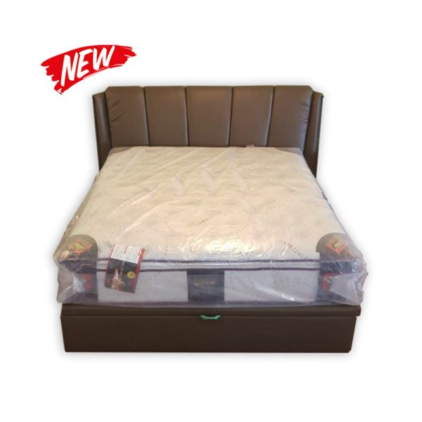 King-size Bed set with Mattress, Divan and underneath Storage