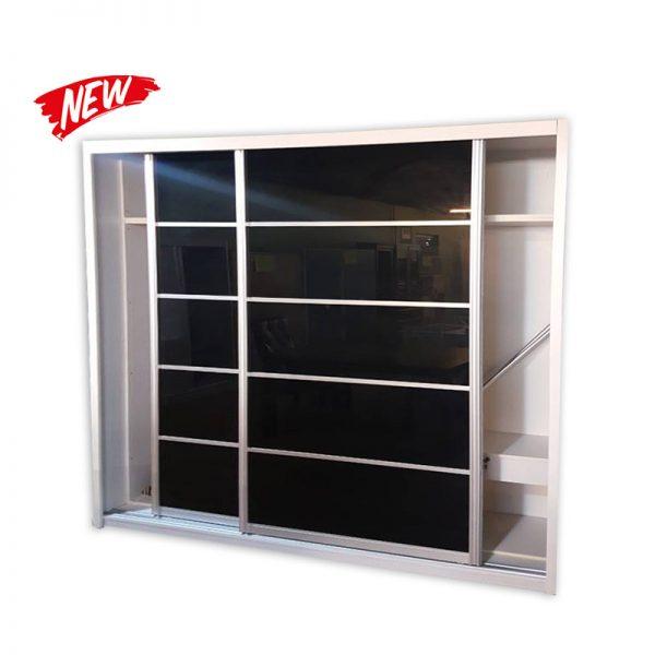Linen Closet with sliding Glass Doors