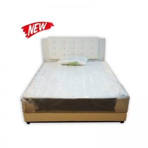Queen-size Mattress, Divan and Headrest