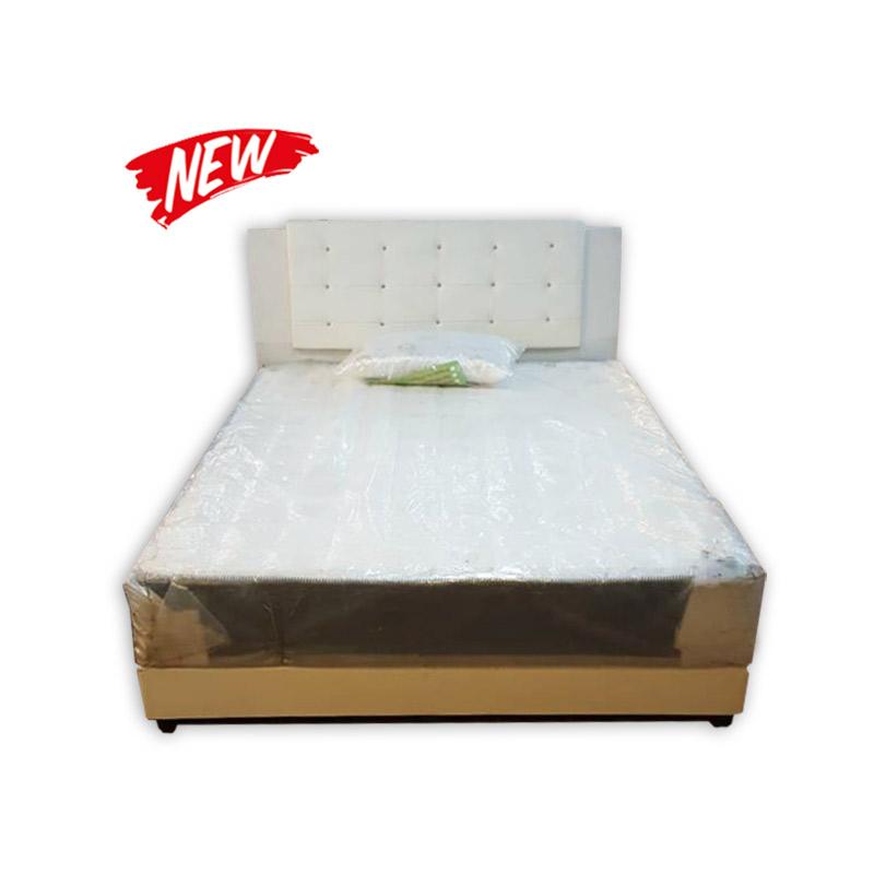 Queen size mattress divan and headrest kaki lelong for Queen size divan