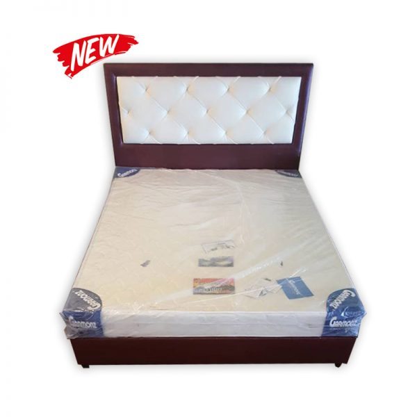 King-Size Mattress with Divan and Headrest