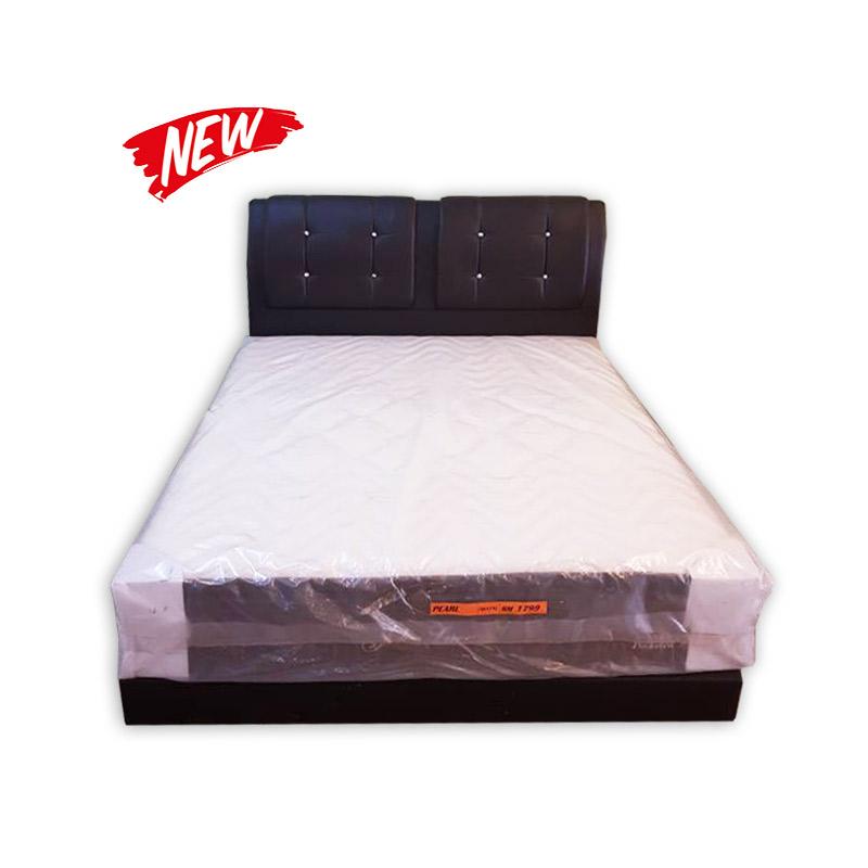 King size mattress divan and headrest kaki lelong for Queen size divan