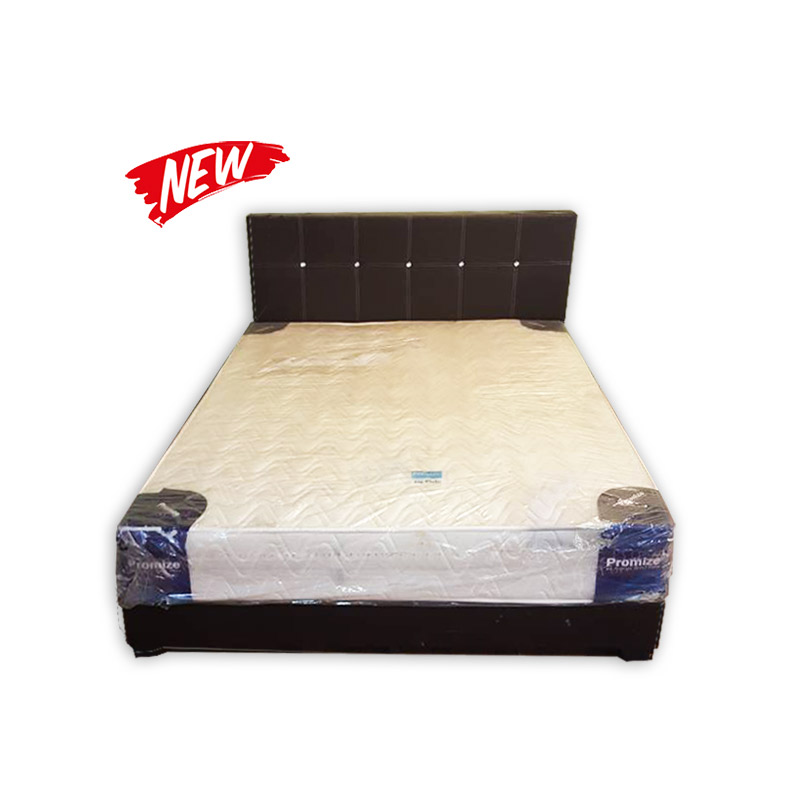 Queen Size Mattress Divan And Headrest Kaki Lelong