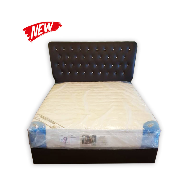 King Size Mattress With Divan And Headrest Kaki Lelong