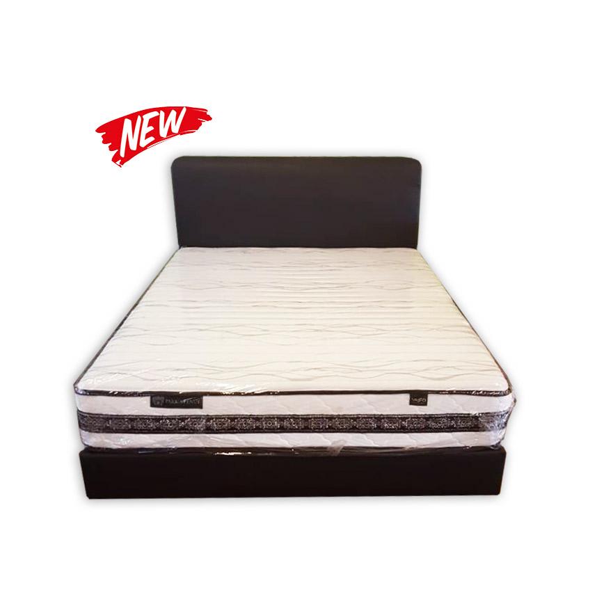 King size mattress divan and headrest kaki lelong for Divan mattress sale