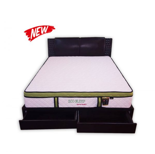 King-size Mattress, Divan, Headrest and storage drawers