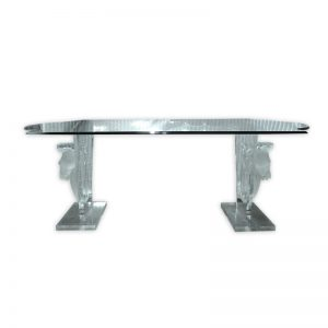 Glass Top Dining Table with Horse shaped legs