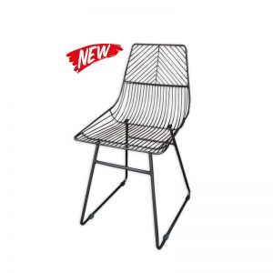 Black Metal-wired Chair