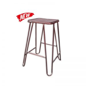 Brass-colored Hairpin Legs Barstool