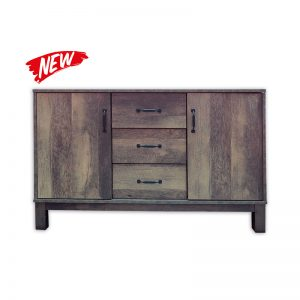 2-door and 3-drawer Wooden Cabinet