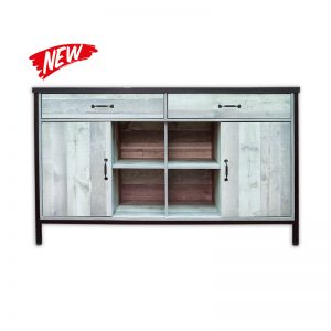 2-drawer and 2-door Wooden Cabinet