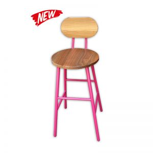 Wooden Bar stool with Metal Frame