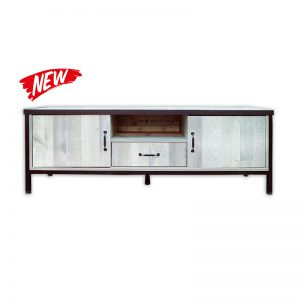 Wooden TV Cabinet with 2 doors and drawer