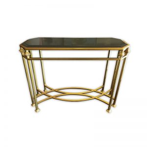 Gold-colored Site Table with Granite Top