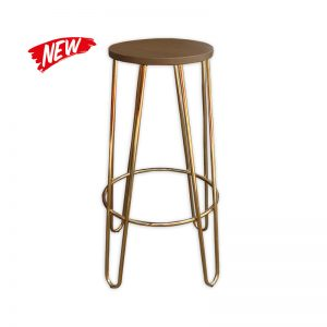 Gold-color Hairpin Barstool