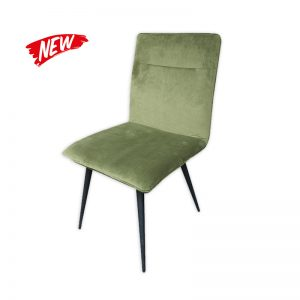 Cushioned Faux Velvet Chair
