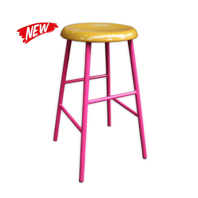 Metal Leg Barstool With Wooden Seat Sold Kaki Lelong