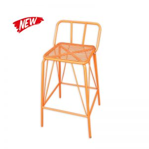 Metal Barstool with Low backrest