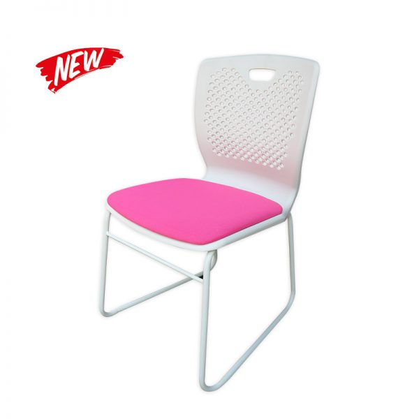 Plastic Fauteuil with Cushioned Seat