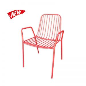 Metal wired Dining Chair with Armrests