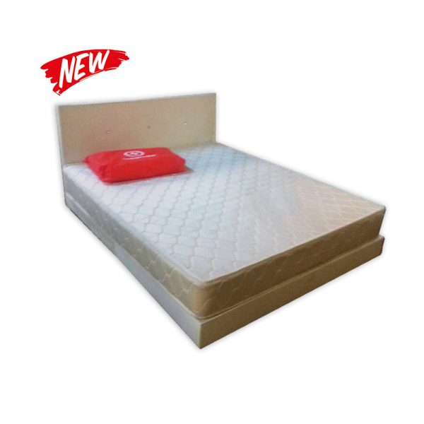 Queen-size Bed with Mattress and Headrest