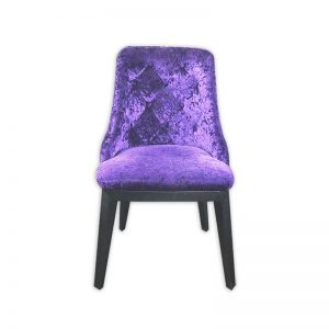 Faux Velvet Dining Chair
