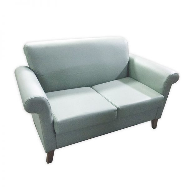 Reupholstered: 2-Seater Couch