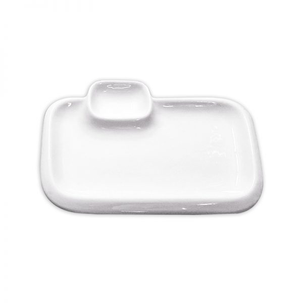 Rectangle Plate with Sauce Compartment