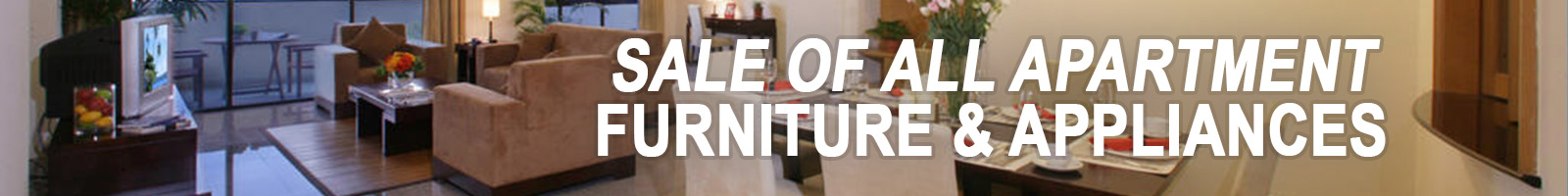 apartment furniture and appliances