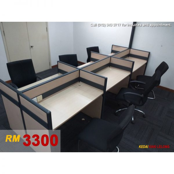 6-Workstation Cubicles with Chair