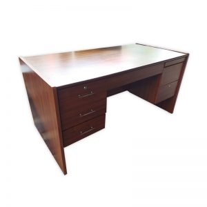 Wooden Office Desk with Drawers