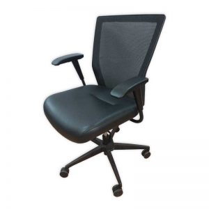 Leather seat Office Chair with Swivel