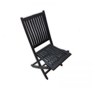 Foldable Black Garden Chair