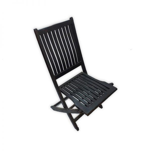 Foldable Black Garden Chair