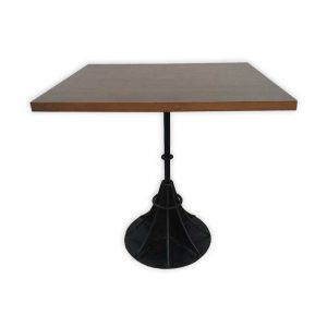 Wooden Restaurant Table with Iron Stand
