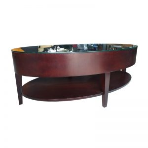 Modern Oval Wooden Coffee Table