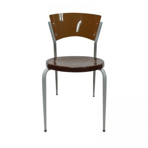 Upscale Plastic Chair with Iron Frame