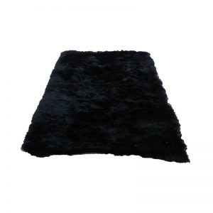 Modern Black Fluffy Carpet