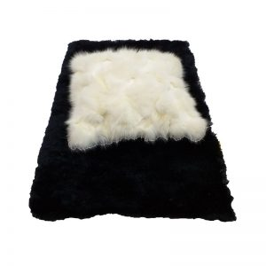 Beige Faux Wool Cushion