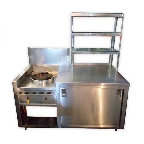 Stainless Steel Stall with Burner