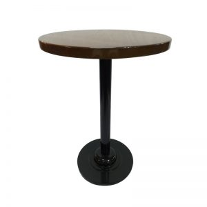 Restaurant Table with Wooden Top