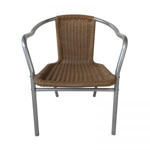 Metal frame Rattan Restaurant Chair