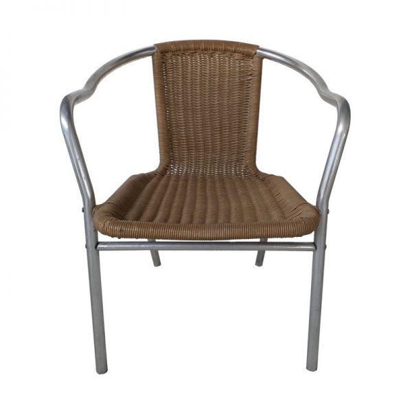 Metal frame Rattan Restaurant Chair