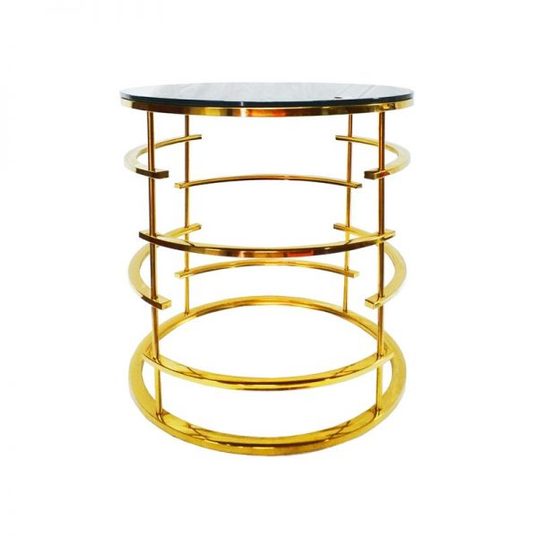Modern Side Table with Glass Top