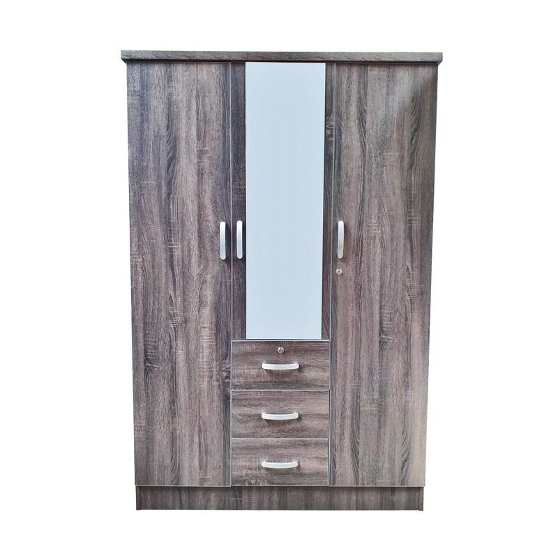 New Double Door Closet With Mirror Kaki Lelong Everything Second Hand