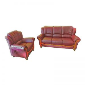 Sofa Set 3+1 PU with Wooden Frame