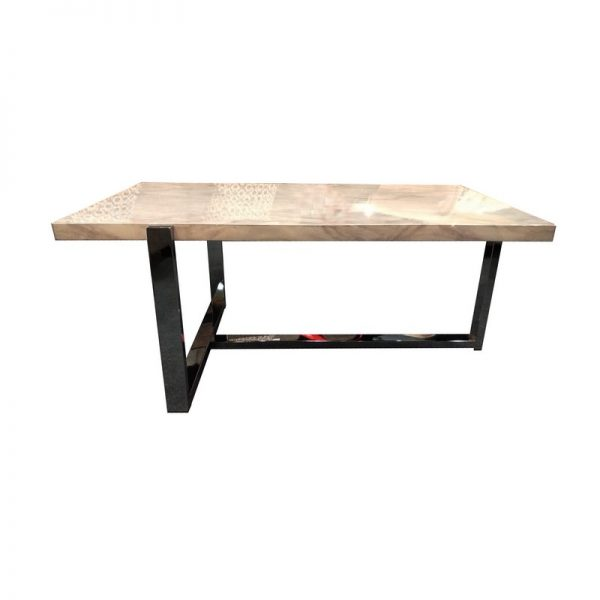 Modern L-footed MDF Coffee Table