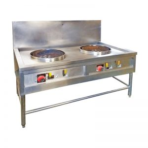 Stainless Steel double station Gas Burner