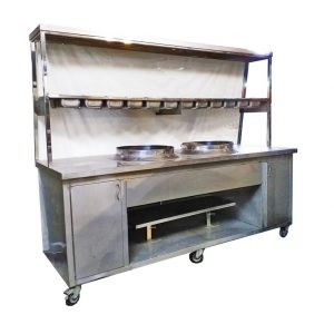 Stainless Steel Large Hawker Stall