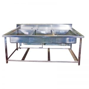 Stainless Steel 3 basin Professional Sink